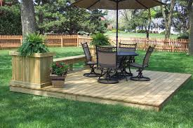 Decks And Patios For Dummies Floor Ground Level Deck With Building Decks For Dummies