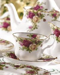country roses tree teacup and saucer set