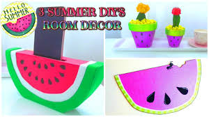 How To Decorate Pot At Home by 3 Diy Summer Room Decor Ideas Watermelon Isa Youtube