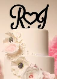 wedding cake toppers initials cake toppers
