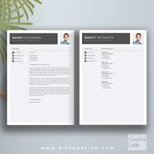 template cover letter cv word resume cover letter template resume templates creative market