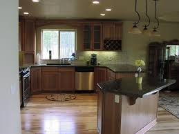 kitchens dark floors light cabinets beautiful home design