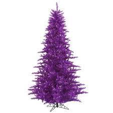 buy 6 5 39 pre lit purple fir artificial tree