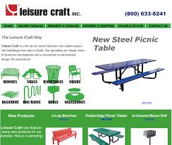 leisure craft picnic tables eisaman contract associates leisure craft inc