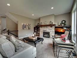 Popular Open Floor Plans by Stone Fire Place Media Wall Nesting Table Great Room Custom Home