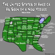 Us New York Map by How Nyc Residents View The States New York York 2013 How Much
