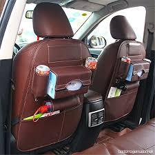 protection siege voiture pour siege auto de siège arrière voiture multi poches voyage en pu cuir kits de