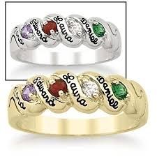 personalized birthstone ring keepsake personalized harmony birthstone ring by namesake