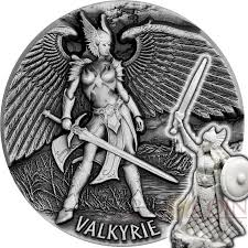 tokelau valkyrie mythical series legends of asgard silver coin 10