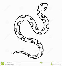 excellent design ideas snake outline template colour tattoo