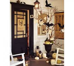 decorated halloween trees overwhelming outdoor halloween home design ideas complete