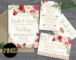 wedding invitations etsy printable wedding invitation etsy