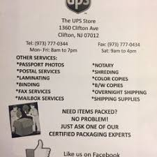 the ups store shipping centers 1360 clifton ave clifton nj