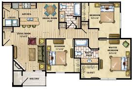 floor plans 3 bedroom 2 bath emejing 3 bedroom apartment floor plans photos liltigertoo
