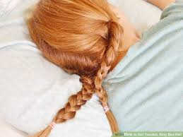 hairstyles for bed wiki how 3 ways to get tousled sexy bed hair wikihow