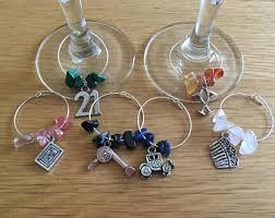 Wine Glass Keychain Wine Glass Tag Etsy