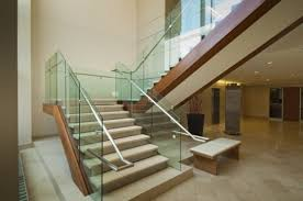 Glass Stair Banister Frameless Glass Stair Balustrade A More Decor