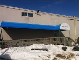 Awning Recover Commercial Awning Entrance And Handicap Ramp Recover In Fall River