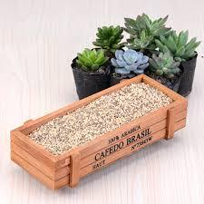 new wood planter box garden yard rectangle flower succulent