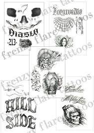 el diablo temporary tattoos squad complete set of and