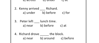 all worksheets preposition worksheets for grade 5 with answers