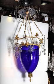 Cobalt B by Russian Neoclassical Cut Glass Cobalt Blue Glass Chandelier Or