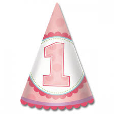 1st birthday girl 1st birthday girl cone hat 8ct wally s party factory