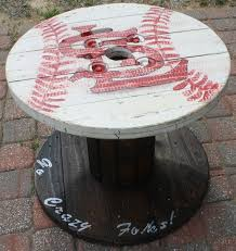 Wire Spool Table St Louis Cardinals Wooden Cable Spool Table Great For The