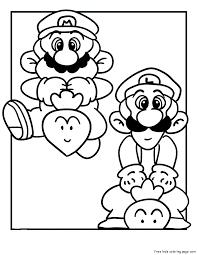 mario luigi coloring pages print kids coloring