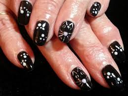 21 impressive nail art with black nail polish u2013 slybury com