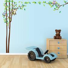 cartoon monkey tree stickers zooyoo nursery wall decal animal zypa