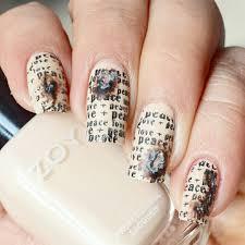 newspaper nail art original nail design ladylife