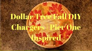 pier one thanksgiving decorations dollar tree fall diy chargers pier one inspired youtube