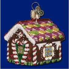 gingerbread house blown glass personalized