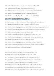 global automotive fog lights sales 2017 market size volume and value