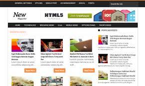 news magazine blogger template templateism
