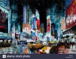 famous new york city landmark original acrylic painting