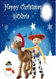 personalised jessie bullseye toy story christmas card