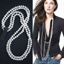 long pearls necklace images If i am going to wear pearls make it a double strand and make it jpg