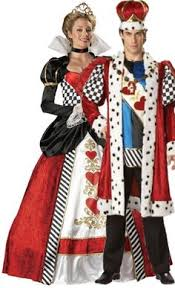 Halloween Queen Hearts Costume Couples King Queen Hearts Costume Royalty Party Theme