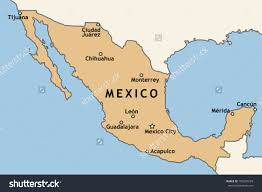 Map Of Cities In California Map Of Mexico Showing Major Cities You Can See A Map Of Many
