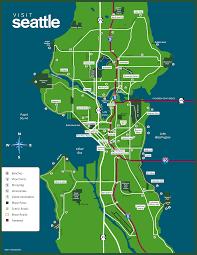 Seattle Tourist Map Pdf by Map Of Seattle Wa Roundtripticket Me
