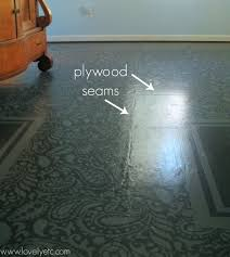 How To Fix A Piece Of Laminate Flooring Painted Plywood Floor Update The Good The Bad And The Ugly