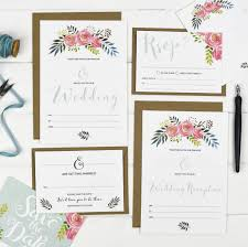 wedding invitation set floral write your own wedding invitation set by russet and gray