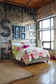 brick wallpaper bedroom brick wallpaper as of chic rustic accent in modern apartment