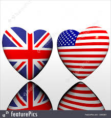 Us Flags Com Illustration Of Heart With Us Flag Isolated On A White
