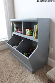 ana white bookcase toy storage featuring rogue engineer diy