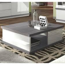 brera table basse carrée laqué blanc bois gris achat vente