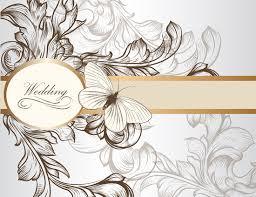 wedding invitation background draw floral wedding invitation background 1 eps format free