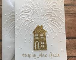 happy new year note cards new year cards 2018 etsy